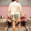 Beige Poster kimono 2